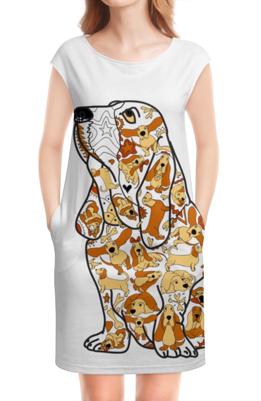 Платье без рукавов Printio Смешная собака бассет купить щенкак в донецке бассет