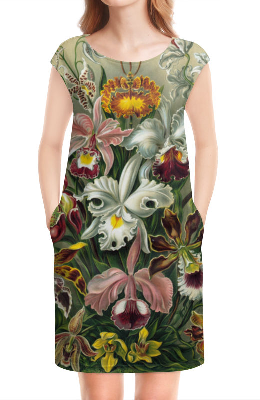 Платье без рукавов Printio Орхидеи (orchideae, ernst haeckel)