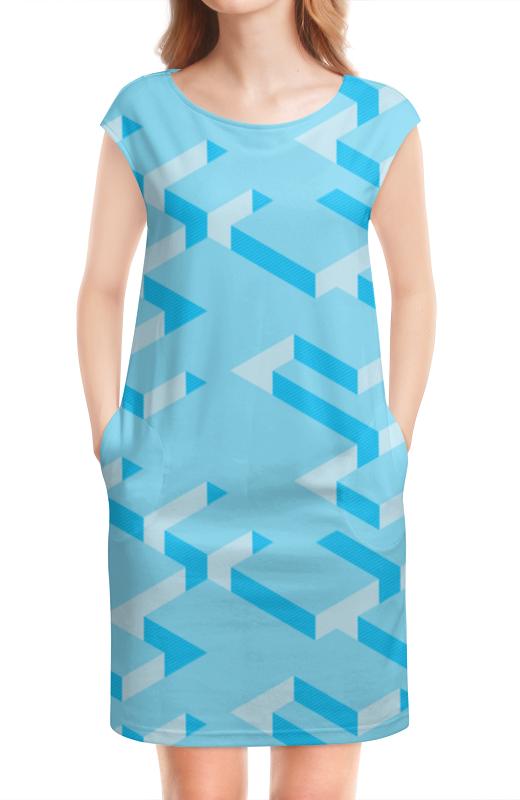 Платье без рукавов Printio Голубой лабиринт игорь борщенко поясница без боли уникальный изометрический тренинг