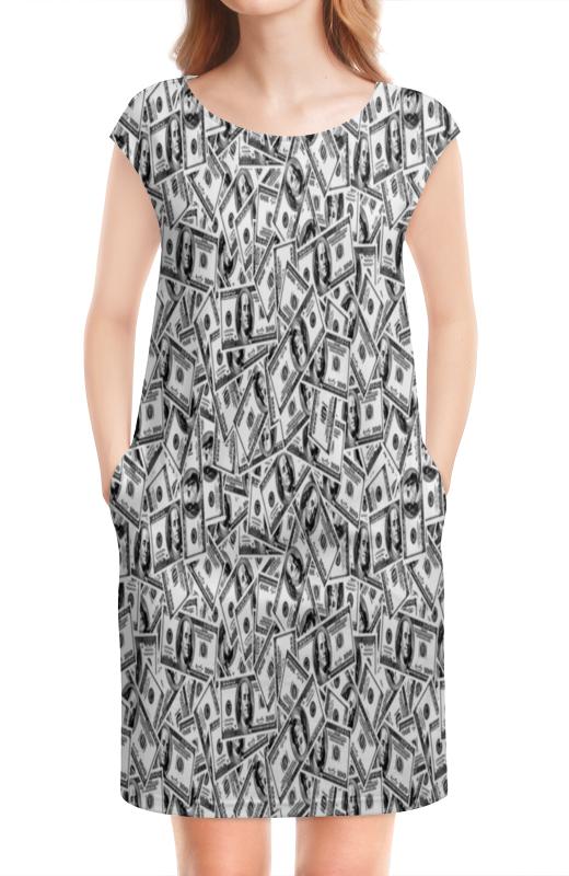 Платье без рукавов Printio Доллар куплю авто 2500 доллар в бишкеке