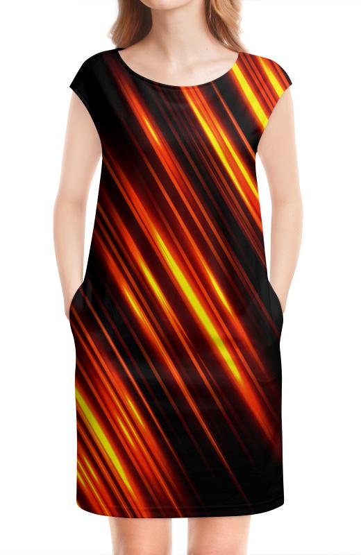 Платье без рукавов Printio Золотые линии