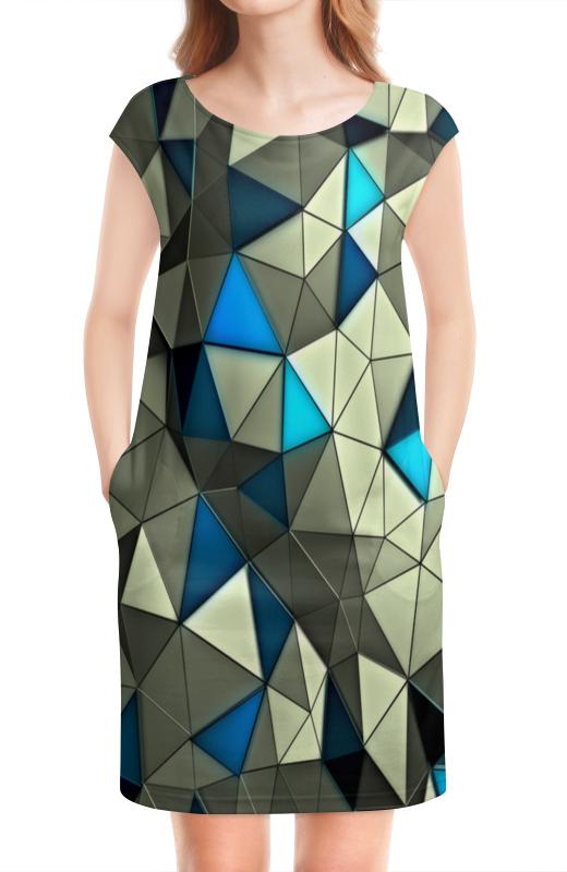 Платье без рукавов Printio Стекло серо-голубое голубое платье