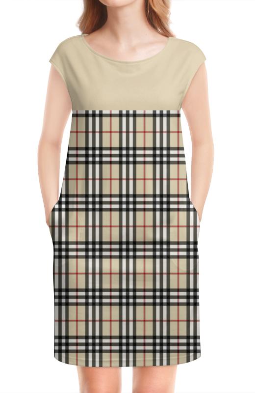 Платье без рукавов Printio Клетка-полоска
