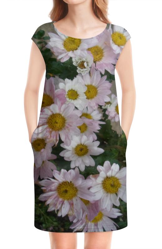 Платье без рукавов Printio Розовые хризантемы татьяна шпинькова белые хризантемы