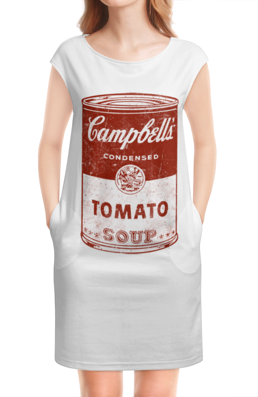 Платье без рукавов Printio Банка с супом кэмпбелл