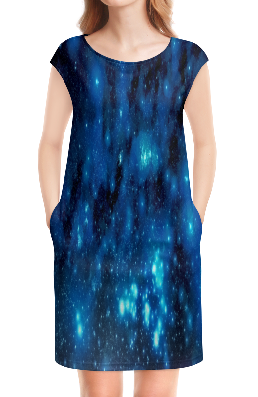 Платье без рукавов Printio Звездное небо картленд б звездное небо гонконга