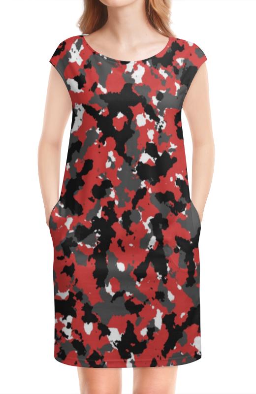 Платье без рукавов Printio Red urban camo original buff urban camo
