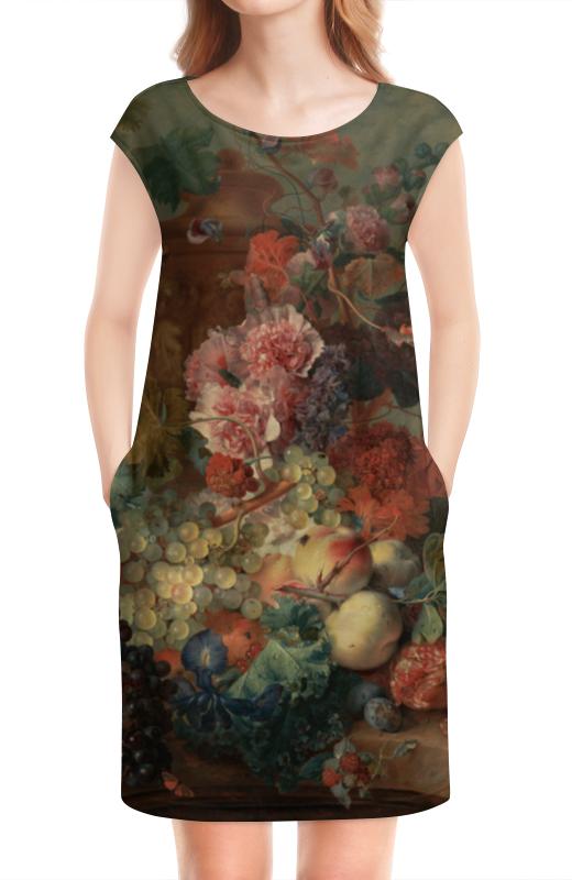 Платье без рукавов Printio Цветы (ян ван хёйсум) ян ван гойен альбом isbn 9785779344791