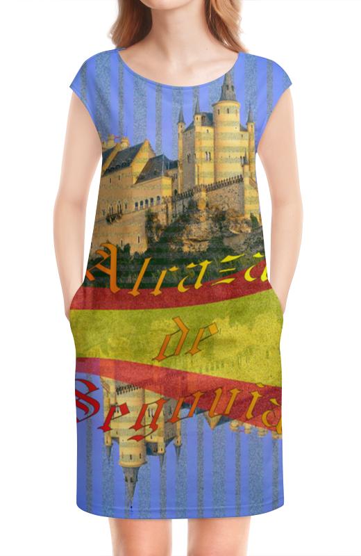 Платье без рукавов Printio Средневековой испанский замок сеговия. испанский топор truper ml 4m 14972