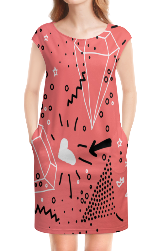 Платье без рукавов Printio Кристалл