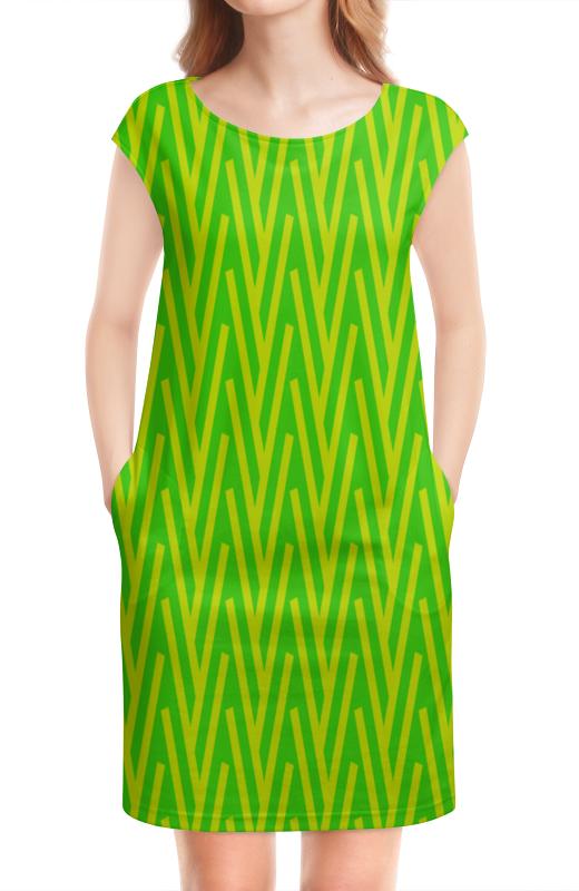 Платье без рукавов Printio Желто-зеленый узор жучок zhorya желто зеленый