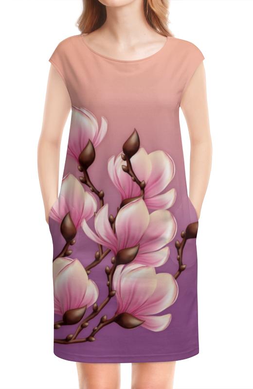 Платье без рукавов Printio Магнолия платье без рукавов с декоративным бантом