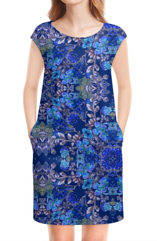 Платье без рукавов Printio Красивый растительный цветочный орнамент, паттерн плакат a3 29 7x42 printio яркий красивый модный гелакси дизайн паттерн