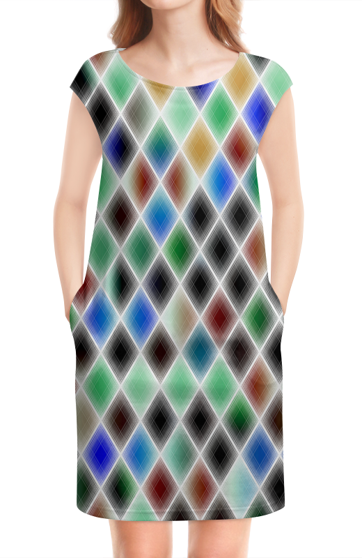 Платье без рукавов Printio Квадрат культ платья bracegirdle платье квадрат
