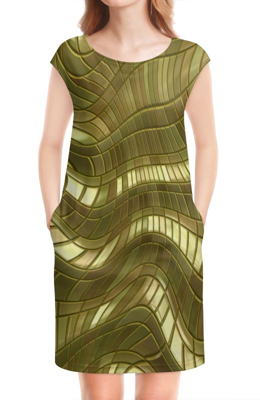 Платье без рукавов Printio Золотые полосы