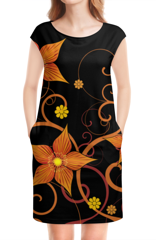 Платье без рукавов Printio Цветочное