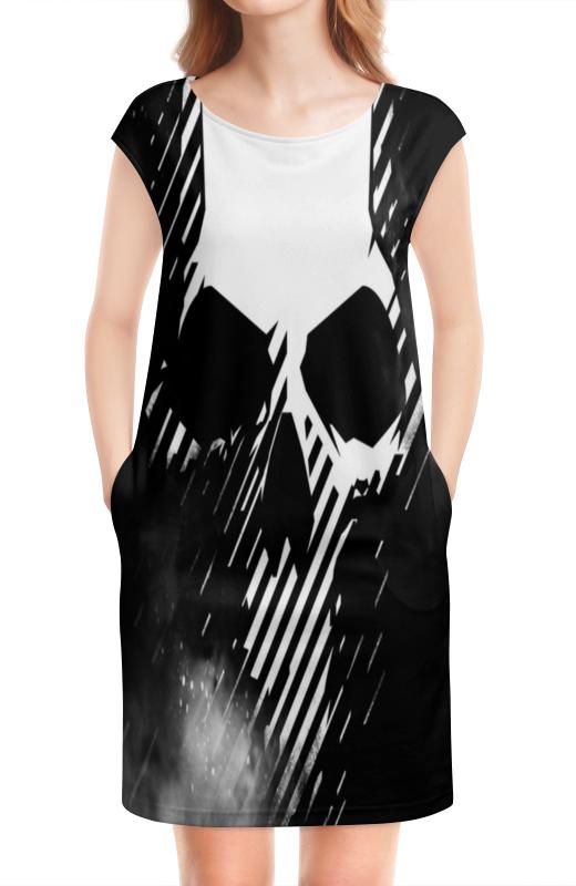 Платье без рукавов Printio Череп