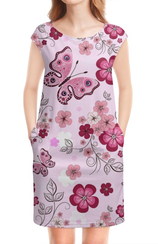 Платье без рукавов Printio Бабочки композиция цветочная 19 см русские подарки композиция цветочная 19 см