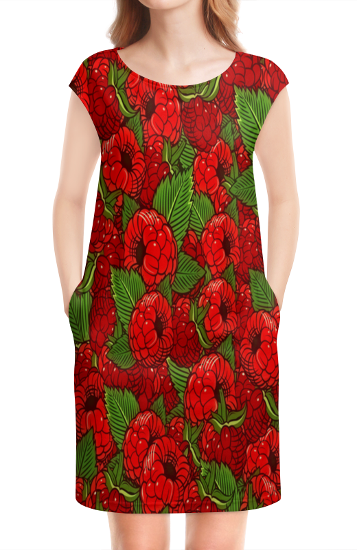 Платье без рукавов Printio Малинка россия 23280055080 розетка малинка 55 80