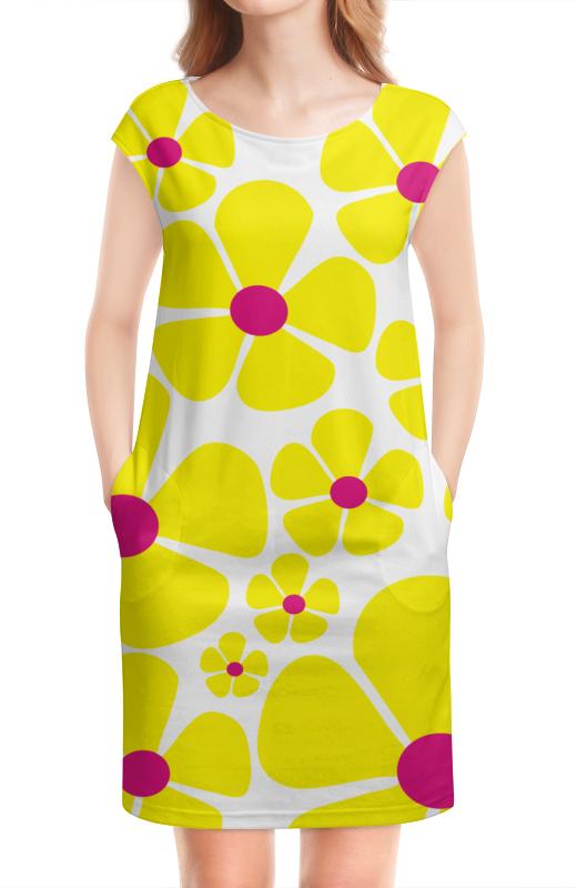 Платье без рукавов Printio Желтые цветы