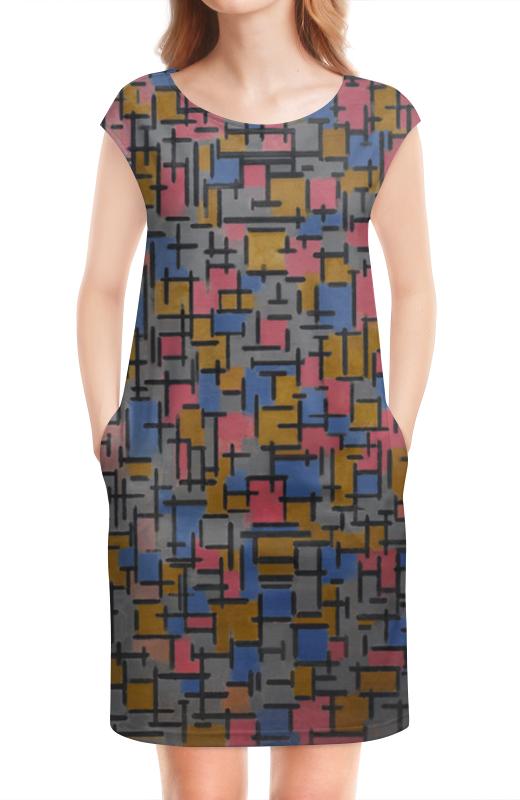 Платье без рукавов Printio Композиция (питер мондриан)