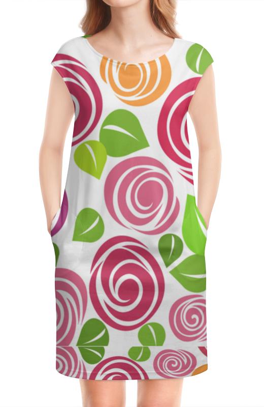Платье без рукавов Printio Платье с цветочным принтом платье с цветочным принтом