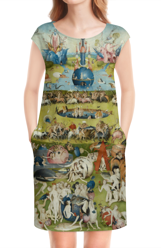 Платье без рукавов Printio Сад земных наслаждений юбка в складку printio сад земных наслаждений