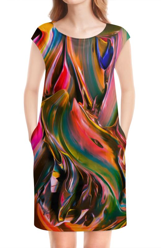 Платье без рукавов Printio Смесь красок смесь ненни харьков дешевле