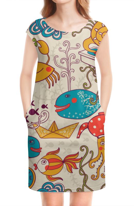 Платье без рукавов Printio Морские обитатели луч морские обитатели