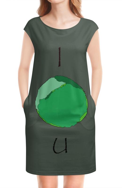 Платье без рукавов Printio Я тебя капуста.