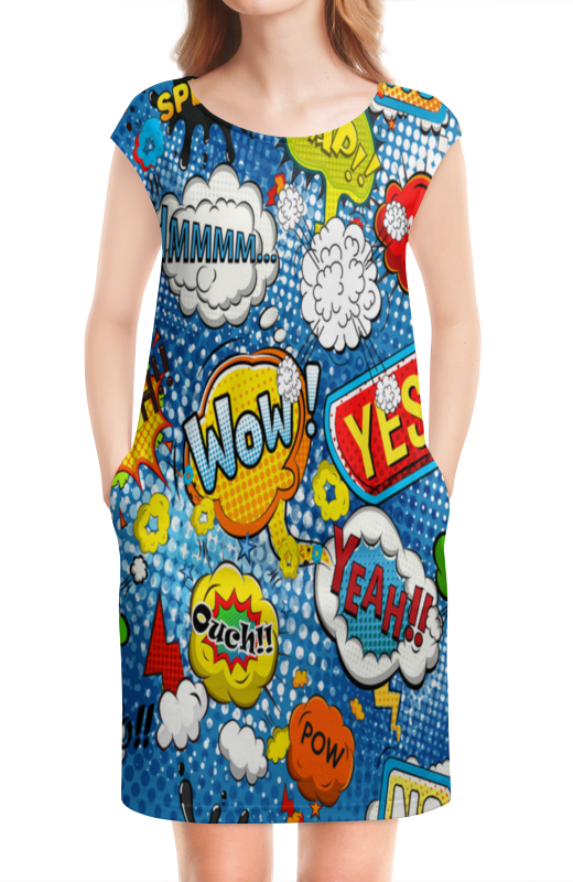 Платье без рукавов Printio Wow art