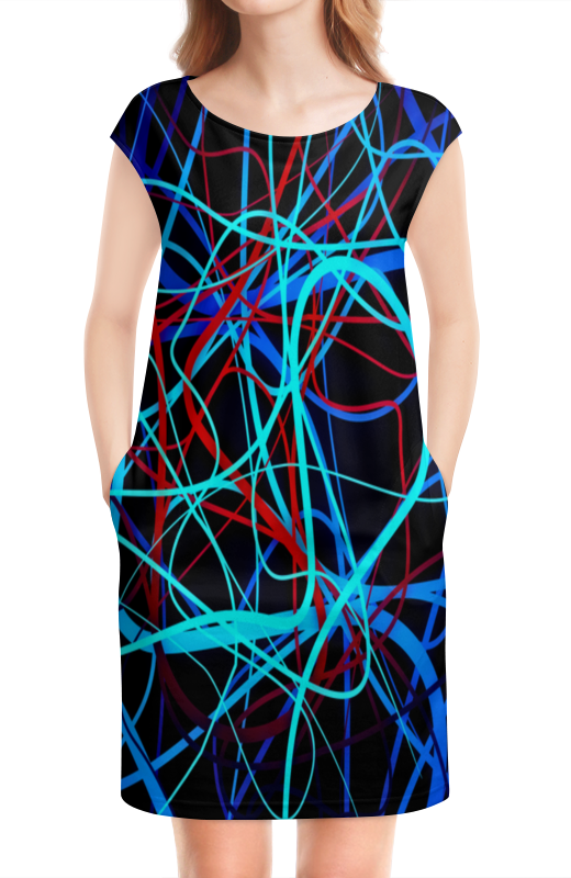 цены на Платье без рукавов Printio Переплетение линий в интернет-магазинах