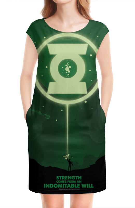 Платье без рукавов Printio Green lantern / зеленый фонарь green lantern brightest day