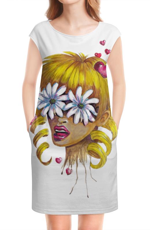 Платье без рукавов Printio Без ума от цветов дэйви о без ума от обезьян