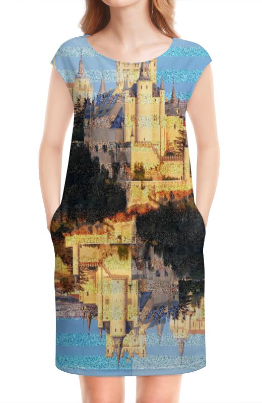 Платье без рукавов Printio Испанские замки.замок сеговия.