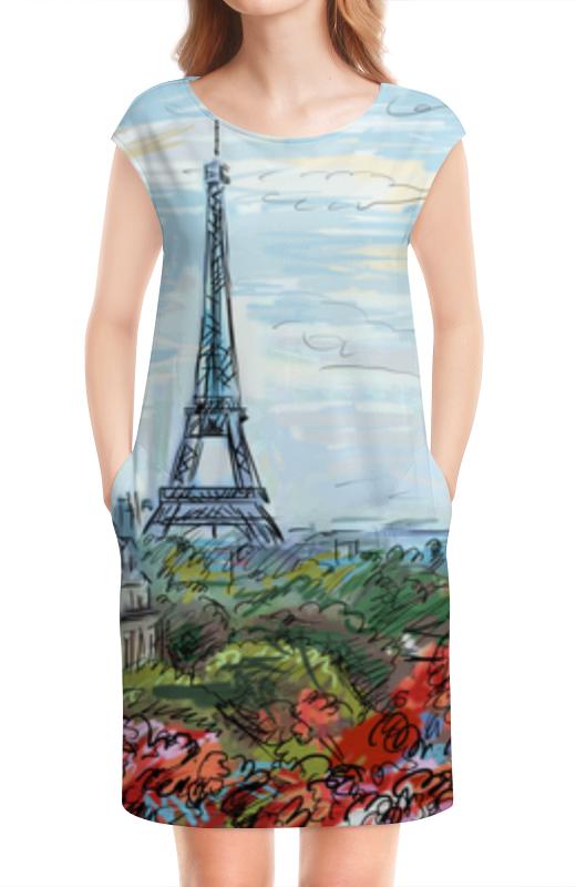 Платье без рукавов Printio Эйфелева башня макет эйфелевой башни спб