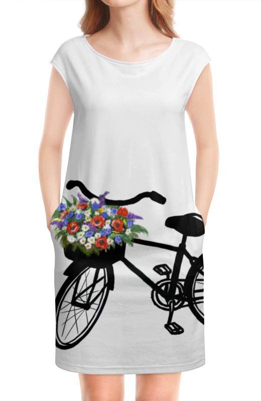 Платье без рукавов Printio Цветы платье без рукавов с декоративным бантом