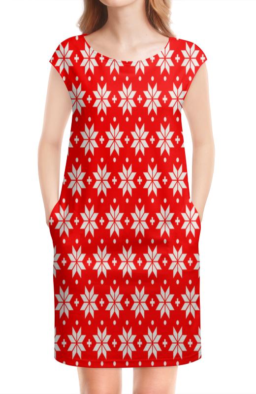 Платье без рукавов Printio Красно-белый узор ирландский красно белый сеттер украина