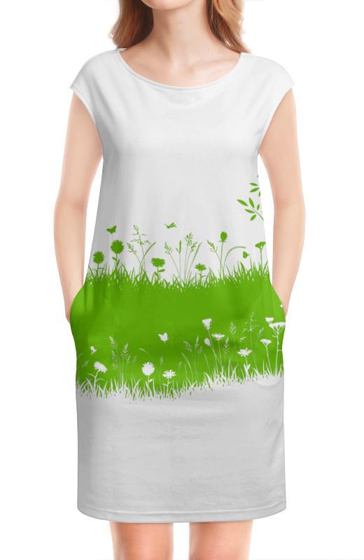 Платье без рукавов Printio Летняя трава