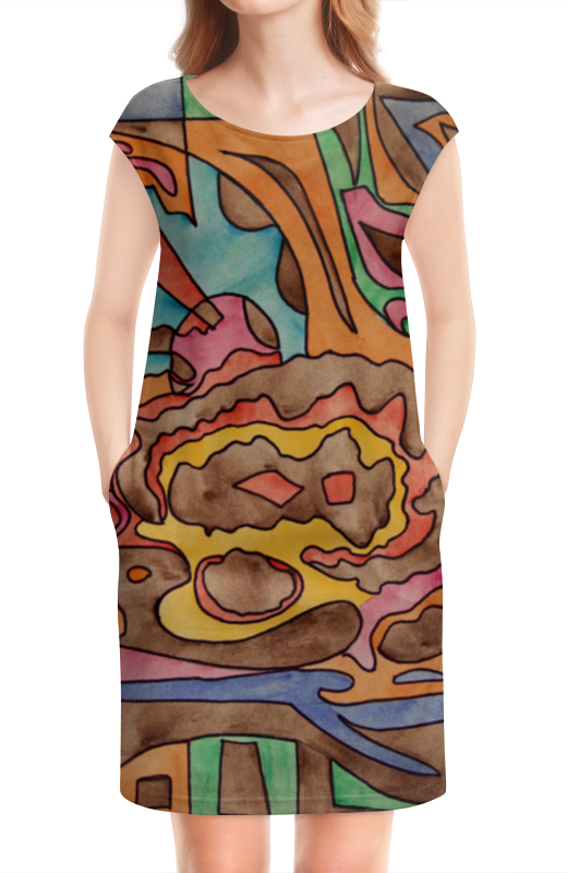 Платье без рукавов Printio R1azq00