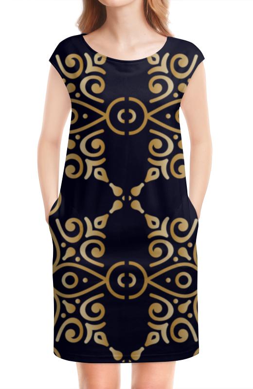 Платье без рукавов Printio Цветочное золото