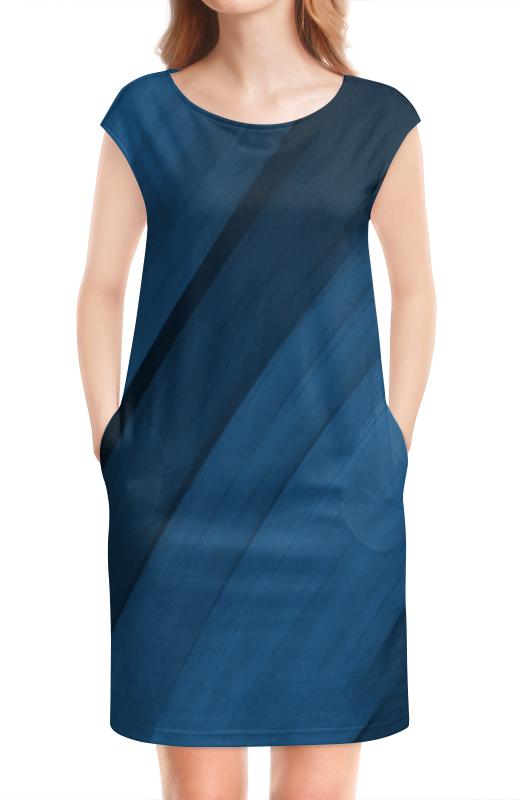 Платье без рукавов Printio Синяя абстракция платье без рукавов printio абстрактный узор