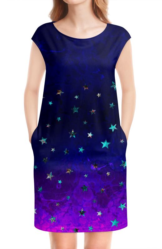 Платье без рукавов Printio Яркий красивый модный гелакси дизайн - паттерн плакат a3 29 7x42 printio яркий красивый модный гелакси дизайн паттерн