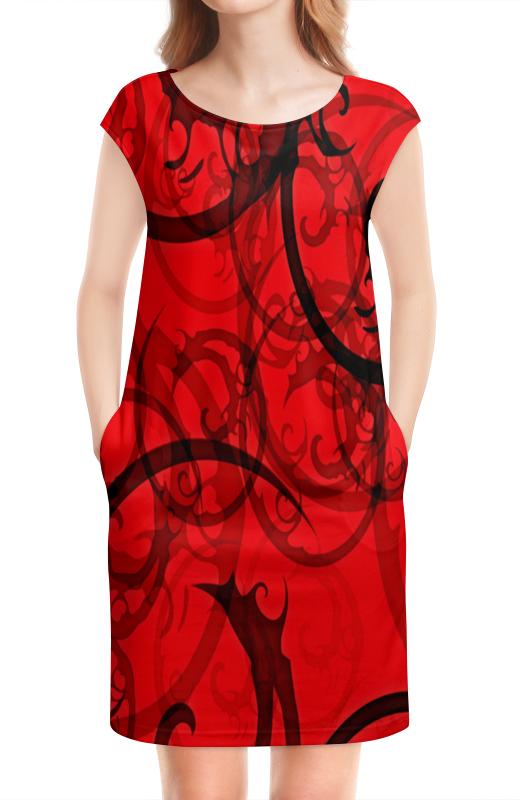 цены на Платье без рукавов Printio Черно-красный узор в интернет-магазинах