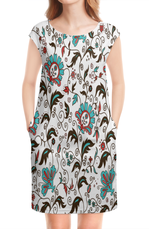 цены на Платье без рукавов Printio Цветочный узор в интернет-магазинах