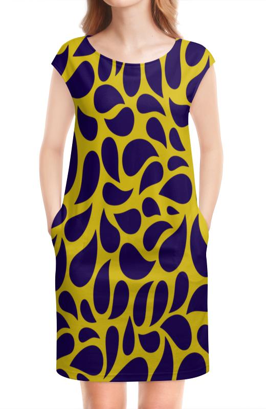 Платье без рукавов Printio Капли виброцил капли в москве ригла