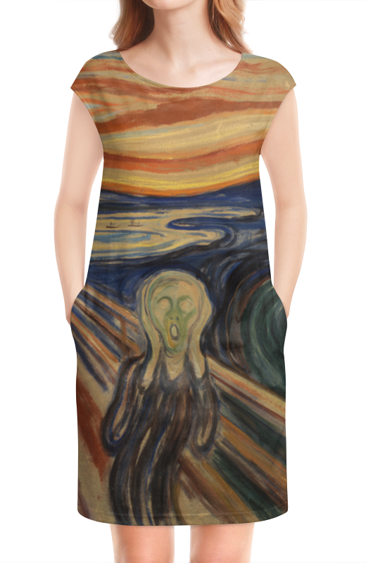 Платье без рукавов Printio Крик (картина мунка) тетрадь на скрепке printio крик картина мунка