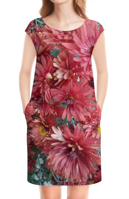 Платье без рукавов Printio Красные хризантемы татьяна шпинькова белые хризантемы