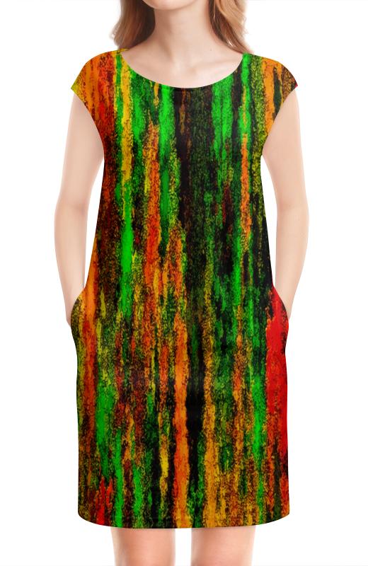 Платье без рукавов Printio Желто-зеленые краски