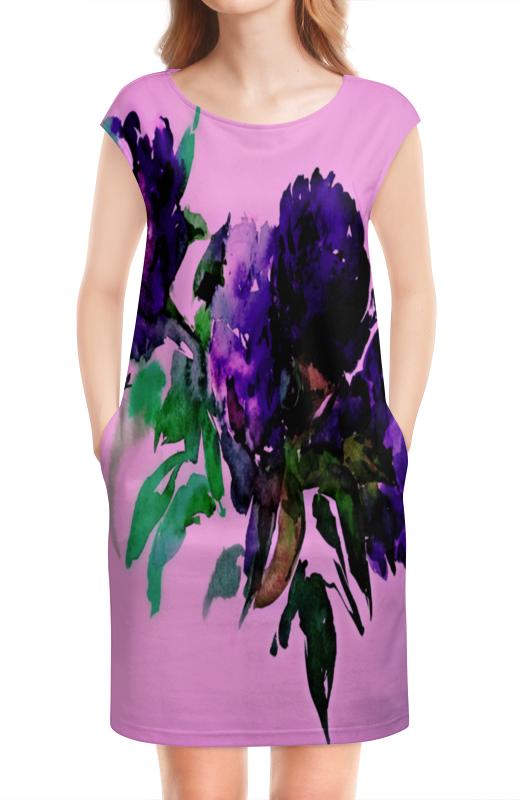 Платье без рукавов Printio Цветы красками платье без рукавов printio цветы